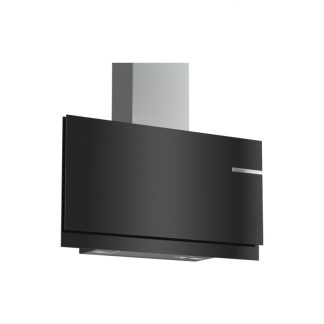 Bosch Dwf97Km60 Serie 6 90Cm Wall Mounted Extractorflat Design, Black With Glass Canopy Exhaust Orrecirculation Operation