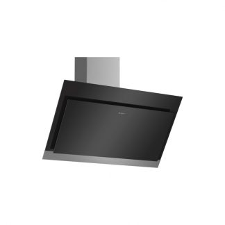 Bosch Dwk97Hm60 Serie 4 90Cm Wall Mounted Extractor,Black With Glass Canopy Exhaust Or Recirculation Operation