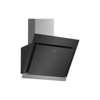 Bosch Dwk67Hm60 Serie 4 60Cm Wall Mounted Extractor,Black With Glass Canopy Exhaust Or Recirculation Operation