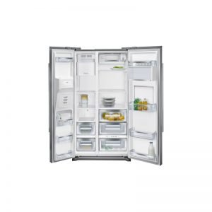 Siemens Ka90Gai20N Iq700 Nofrost, Free-Standing-Refrigerator Side-By-Side Ice- And Water Dispenser And Home Bar